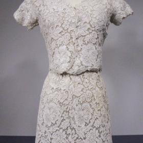 329fcddc0e4 Haute Couture Dress and Dolero in guipure and cream lace numbered 94445  Circa 1960 1965